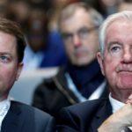Craig Reedie, président de l'Agence mondiale antidopage, et Olivier Niggli, son directeur général
