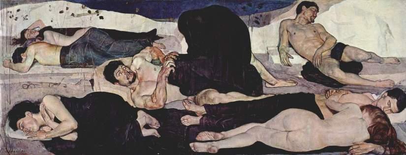 Ferdinand Hodler, «La nuit» Ce tableau avait fait scandale en 1891.