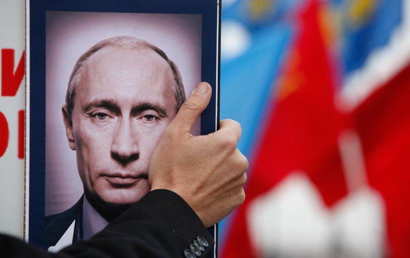 Anti-Putin Protest Portrait
