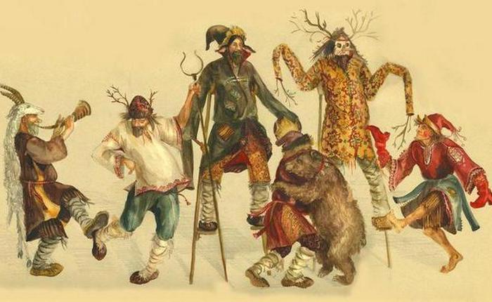 Les escrocs, les imbéciles, guselniki, les joueurs, la danse ...