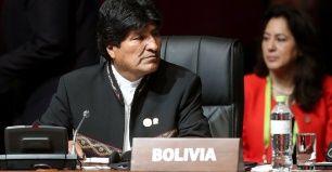 Le président de la Bolivie Evo Morales lors de la séance d'ouverture du Sommet des Amériques à Lima, Pérou, le 14 avril 2018.