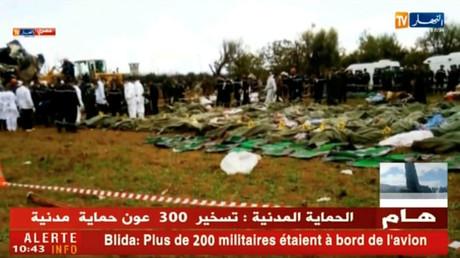 257 corps découverts après un accident d'avion militaire en Algérie - rapports