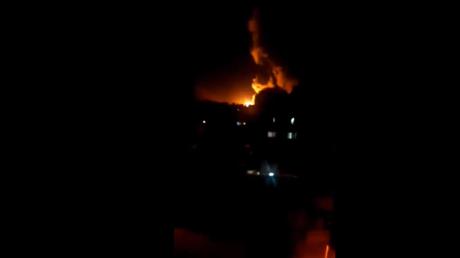 Capture d'écran d'une vidéo montrant des grèves à Damas