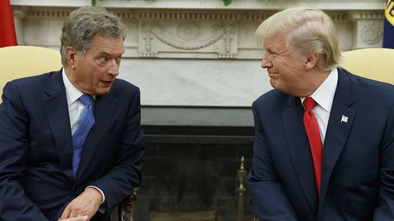 Donald Tramp, président des États-Unis, et Sauli Niiniste, président de la Finlande Washington / Source: golos-ameriki.ru