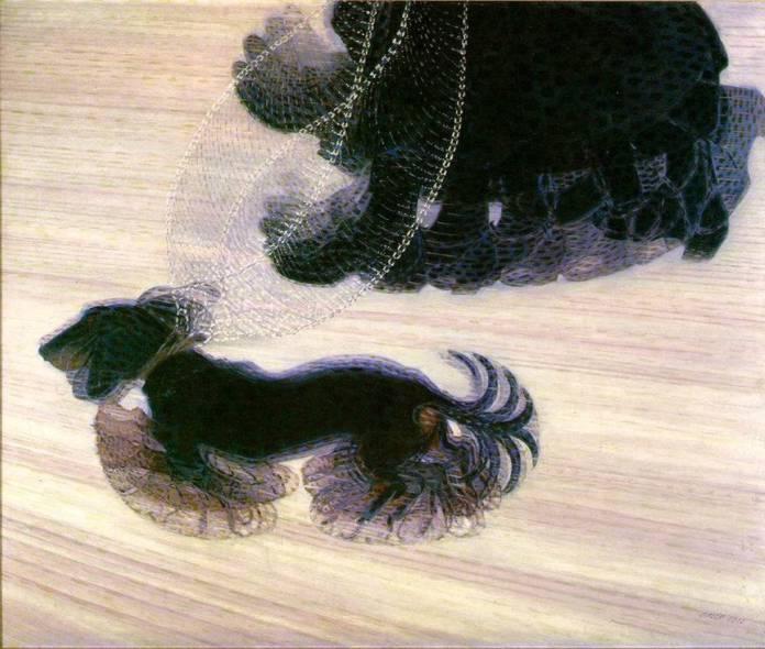 Dynamisme d'un chien en laisse, 1912, Artiste Balla Giacomo