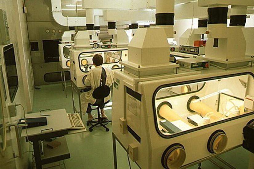 """Laboratoire biologique secret dans """"Porton Down"""", un cliché de 1996."""