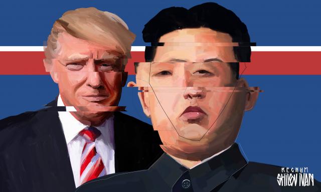 Donald Trump et Kim Jong Eun