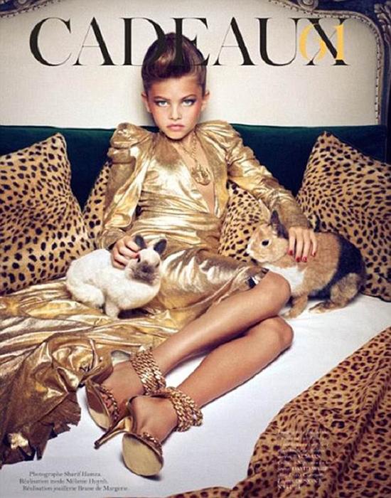 Séance photo scandaleuse Vogue.