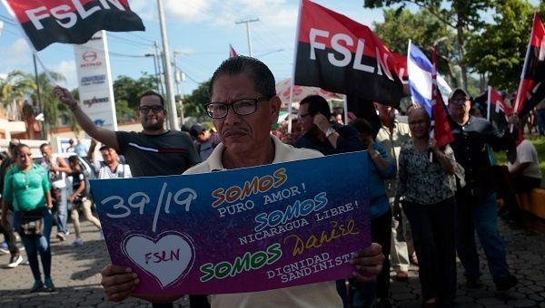 Un partisan du Nicaragua