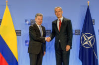 The President of Colombia visits NATO